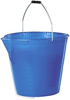 Tosend Seau en plastique avec bec verseur (15 l). Dimensions : 31 x 34 x 31 h cm. Couleur : bleu.