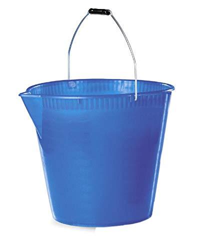Tosend Secchio in plastica con Becco versatore (lt. 15) Misure cm 31x34x31h - Colore Blu