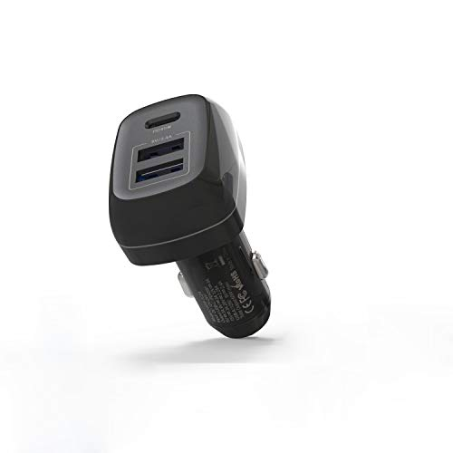 Runpower Car Charger USB C, 3-Port Car Charger with 45W PD Port & 2 USB A,Compatible with MacBook pro/Air iPad Pro/Air 2/Mini,Note 5/4,LG, Xs/Max/XR/X/8/7 and More
