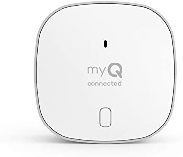 myQ Chamberlain Smart Garage Door Opener - Wireless Garage Hub and Sensor with Wifi & Bluetooth - Smartphone Controlled, New Design, myQ-G0401-ES, White