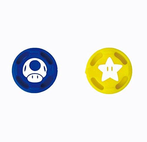 2 peças de silicone analógico para polegares para Nintend Switch NS Joy Con capa para controle Joy con (# 10 azul + amarelo)