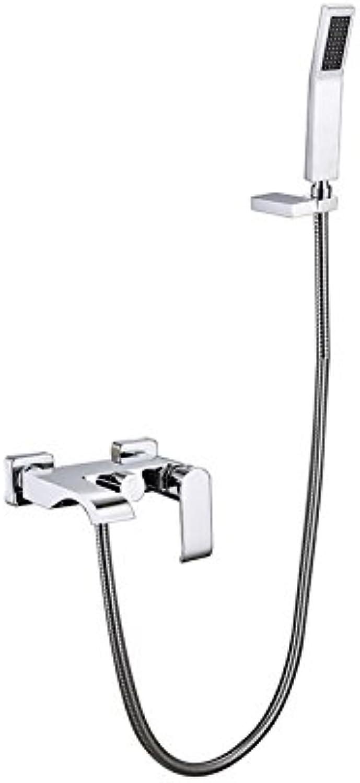 Mangeoo Kupfer Badewanne Armatur bad dusche Dusche Wasserhahn set Kalt-und Warmwasser Mischventil square verlngert, tippen Sie auf