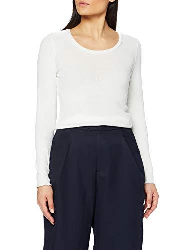 SPARKZ COPENHAGEN Antonia Top Camiseta, Blanco Roto, L para Mujer