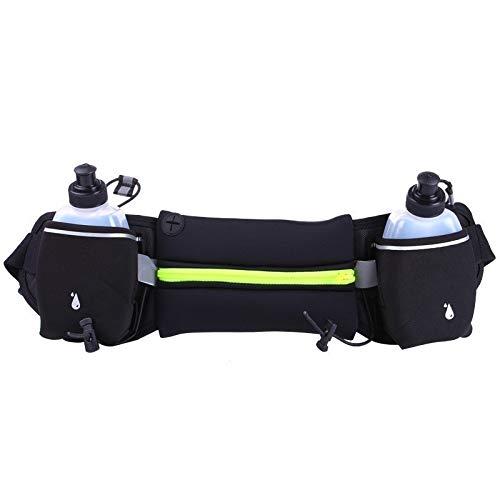 CHZDYB Riñoneras Bolsas De Cintura para Correr Al Aire Libre para Hombre Y Mujer Jogging Paquete De Cintura Bolsa De Cinturón De Hidratación Botella De Agua Gimnasio Gimnasio Ligero Deporte Mone