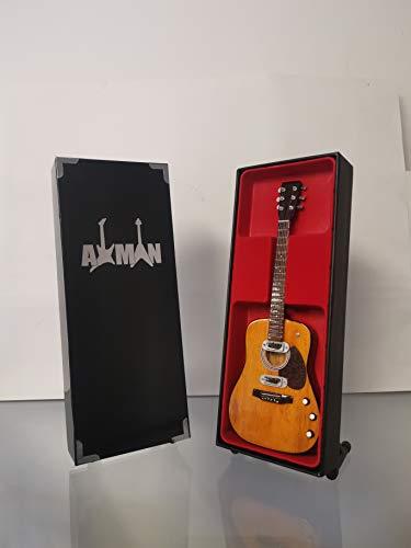 Kurt Cobain (Nirvana) - Réplica de guitarra acústica en miniatura