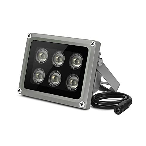 CML Array IR. Illuminator Infrarotlampe 6pcs Array LED IR. Draussen IP65. wasserdichte Nachtsicht fit für CCTV. Kamera 90-60-45 ° C. (Cable Length : 90degree with DC12V)