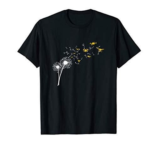 Drohne Copter Pilot Löwenzahn Pusteblume Geschenk T-Shirt