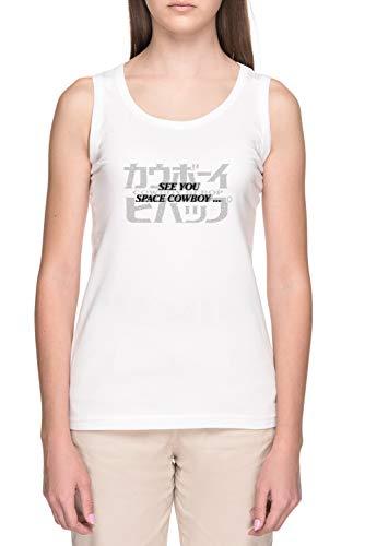 See You Space Cowboy Mujer Blanco Tank Camiseta Women's White Tank T-Shirt