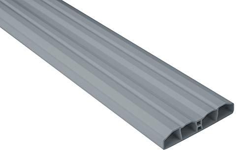 Zaunlatten Sparpaket PZL-10 | widerstandsfähiges Hart-PVC | Kunststoffzaun | Balkonbretter | pflegeleicht | grau modern | 80 x 16 mm | Hexim | 10 Meter