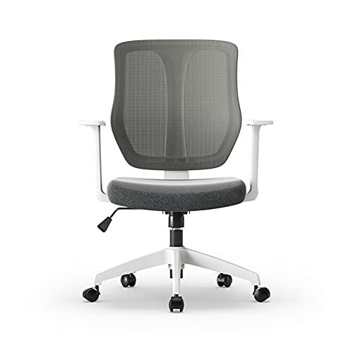 ZRJ Silla de oficina moderna de malla ergonómica giratoria silla de escritorio con brazos para el hogar o la oficina silla de escritorio (color: blanco)