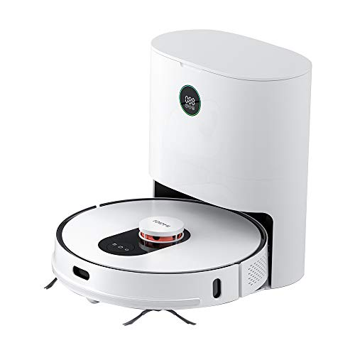 ROIDMI EVE Plus Aspirapolvere robot con stazione di aspirazione automatica 2700Pa 210 minuti di autonomia Navigazione laser Funzione di pulizia Sistema di pulizia a 3 stadi Controllo Alexa