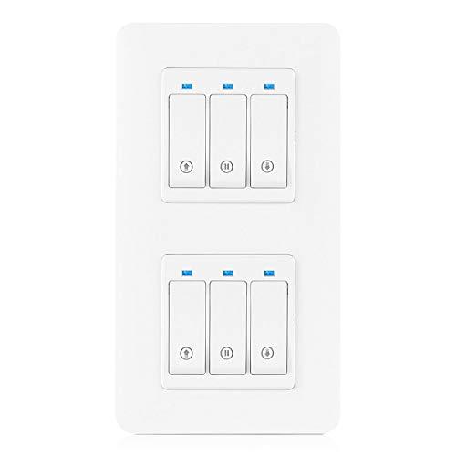 TEEKAR Doppel Rolloschalter Alexa Rolladen Zeitschaltuhr, Smart rolladensteuerung Jalousien Schalter WiFi Kompatibel Mit Alexa Echo Und Google Assistant, APP Fernbedienung und Timer-Funktion