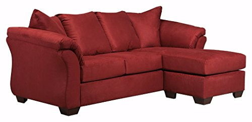 Signature Design by Ashley -  Darcy Microfiber Sofa Chaise, Salsa Red
