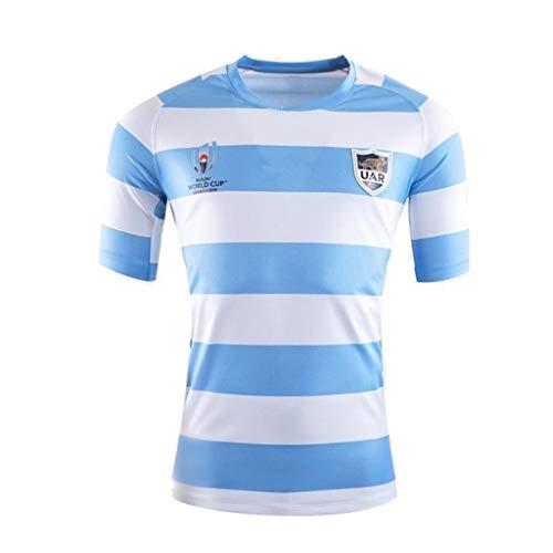 Pavilion 2019 Copa Mundial Rugby Argentina En Casa Y Lejos Fútbol Americano Ropa Jersey Camisetas S-3XL (Size : L)