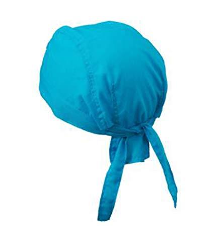 noTrash2003 Design Bandana Cap Mütze Kopftuch verschiedene Farben für Sport und Freizeit (Türkis)
