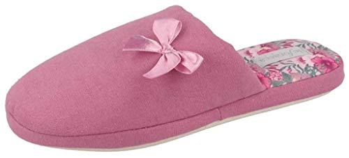 de fonseca Ciabatte Pantofole Cotone da Donna MOD. Roma Top E W607 Rosa (Numeric_38)