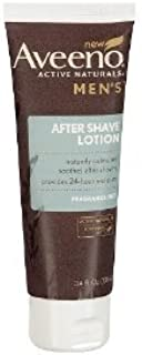Aveeno Men's Fragrance Free After Shave Lotion, 3.4 Ounce