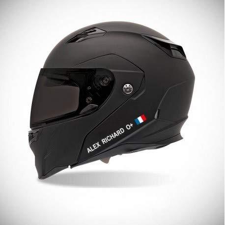 Aufkleber für Motorrad-Helm, selbstklebend, Namensaufkleber, personalisierbar