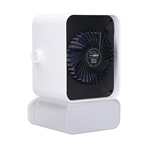 Deror Ventilador Enfriador de Aire Ventilador de Aire Acondicionado de Escritorio Desmontable Ventilador de pulverización pequeño Enfriador de Aire Alimentado por USB para el hogar