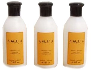 Lotion pour le corps pêche Aqua Vital 3 bouteilles A 200 ml