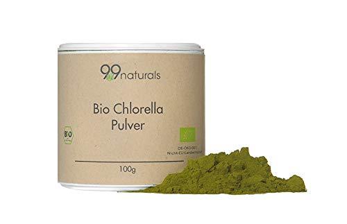 Bio Chlorella Pulver 100g 99naturals Nach EU-Ökostandard Reines natürliches Chlorella Pulver (100)