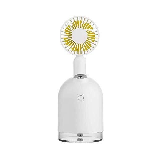 QIYUE 2000 mAh batterij ventilator met Luchtbevochtiger 300ml Usb Aroma Essential Oil Diffuser Night Light Portable Tafelventilator White