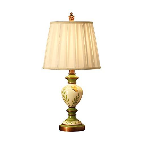 Hong Yi Fei-Shop Lampara Mesilla Lámpara de Mesa de Estilo Europeo, Dormitorio, lámpara de sobremesa Decorativa de decoración de Flores y pájaros Lámpara Mesa