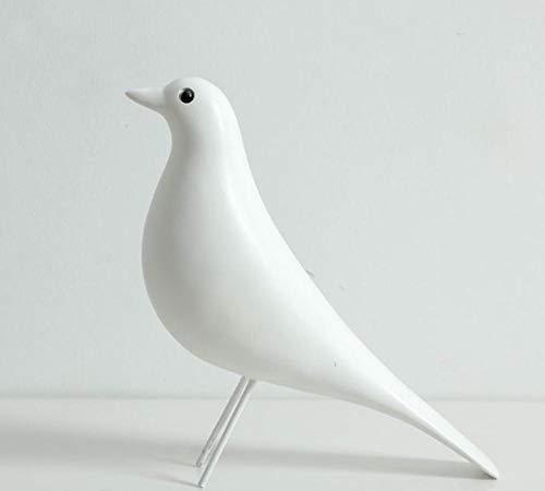 Decoración de resina de pájaro simple paloma Eames pájaro creativo decoración moderna del interior del hogar 38 * 9 * 28 cm-blanco