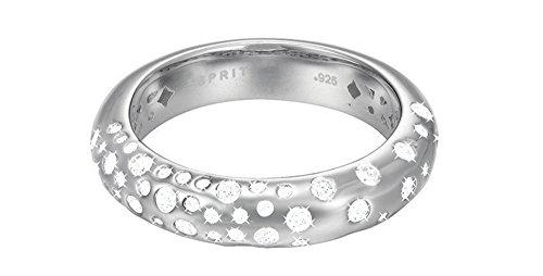 Esprit Damen-Ring JW50050 925 Silber rhodiniert Zirkonia weiß Rundschliff