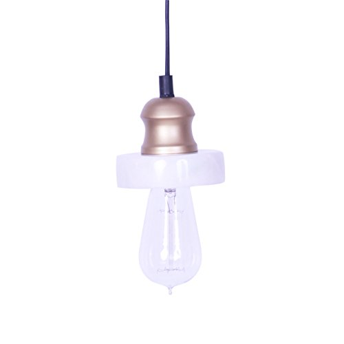 KADIMA DESIGN Lampe Suspension 1x Lampe Suspension Marbre Ella Blanc/Brass
