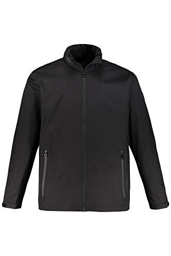 JP 1880 Herren große Größen bis 7XL, Funktions-Jacke, wasserdicht & Winddicht & atmungsaktiv, Stehkragen, einzippbare Kapuze, 2 wetterfeste Zipptaschen, schwarz 3XL 720180 10-3XL