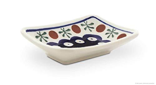 Bunzlauer Keramik Sushi- Sojasoßen Teller, Dekor 41