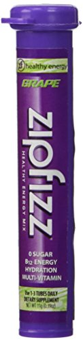 Zipfizz Grape Healthy Energy Drink Mix - Transform Your Water Into a Healthy Energy Drink - 30 Grape Tubes …