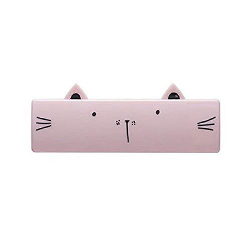 LKU huisdierkam hondenkat borstel mini draagbare opvouwbare wasgoed wassen dierenhaarverwijderaar borstel tapijt blad stofzuiger, roze, 10,3 x 3,8 cm