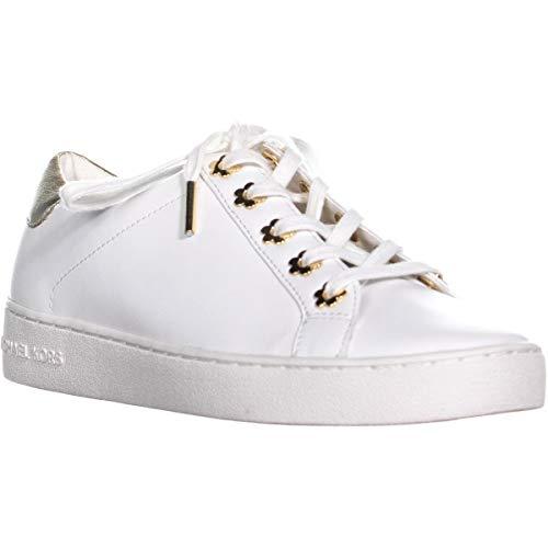 Michael Michael Kors Frauen Irving Lace Up Leder Fashion Sneaker Gold Groesse 8 US /39 EU