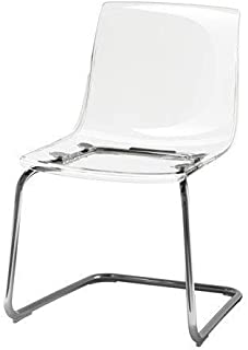 ikeaa IKEA TOBIAS Chair, clear, chrome plated , Silver