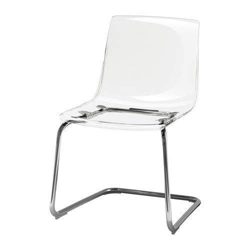 ikeaa IKEA TOBIAS Chair, clear, chrome plated , Silver