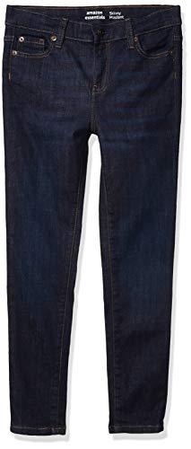 Amazon Essentials Girl's Skinny Stretch Jeans, Fiona/Dark Wash, 8R