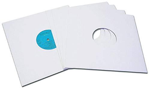 25 cm/10 inch platen, cover, karton, wit, protected (50 stuks)