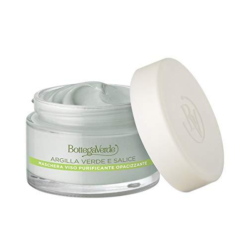 Bottega Verde - Maschera Argille di bellezza per il viso purificante opacizzante (50 ml) - Argilla verde di...