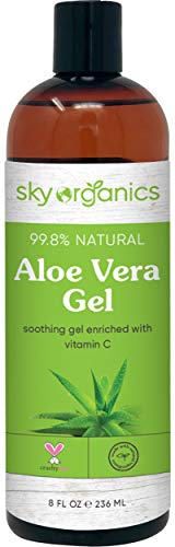 Aloe Vera Gel (8 oz) Cold-pressed Ultra Hydrating Skin Soothing Aloe Gel for Face Body After-Sun Care Aloe Gel Made in USA