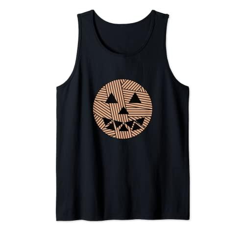 Bola de hilo cara de calabaza de Halloween Camiseta sin Mangas