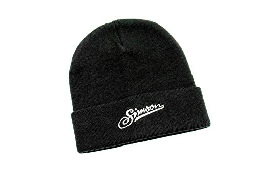 Bisomo Simson Mütze in schwarz mit weißem 'Simson' Logo Schriftzug Sticker