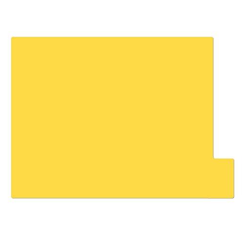 仕切りガイド【A4ヨコ型 [ラテラル] 】書類 棚 カルテフォルダー 仕切り板 整理 トレー 10枚セット (イエロー)