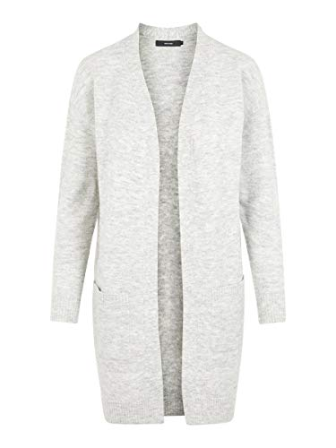 VERO MODA Damen Strickjacke Wollmischfaser XLLight Grey Melange