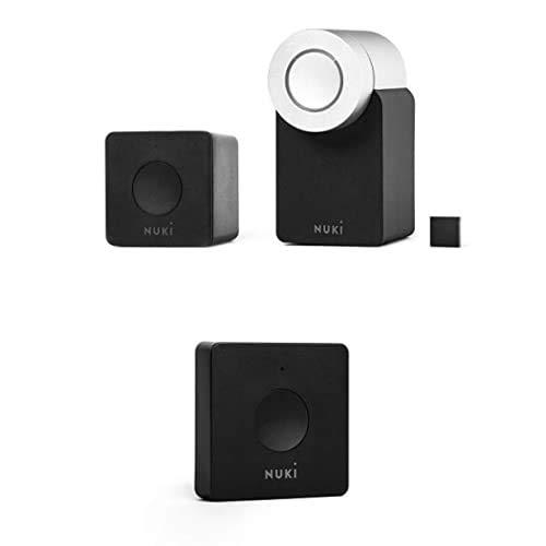 Nuki Combo 2.0 (Smart Lock y Bridge) + Nuki Opener | Cerradura Inteligente vía Bluetooth | abridor electrónico de Puerta para Casas múltiples | Abrepuertas Automático WLAN | iPhone y Android