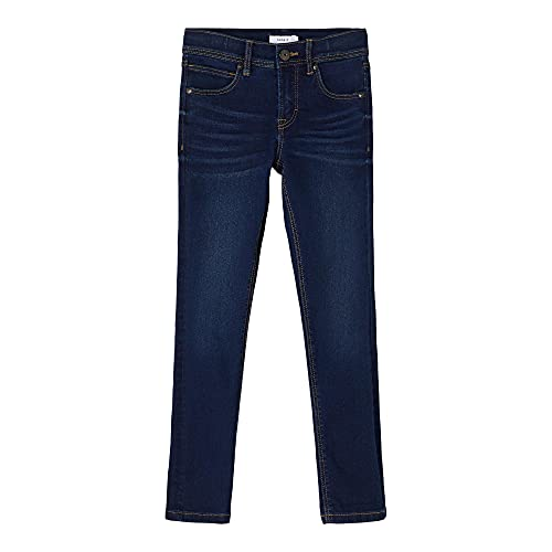 NAME IT KIDS Jungen NKMSILAS DNMTHRISS PANT CAMP Jeans, Medium Blue Denim, 128