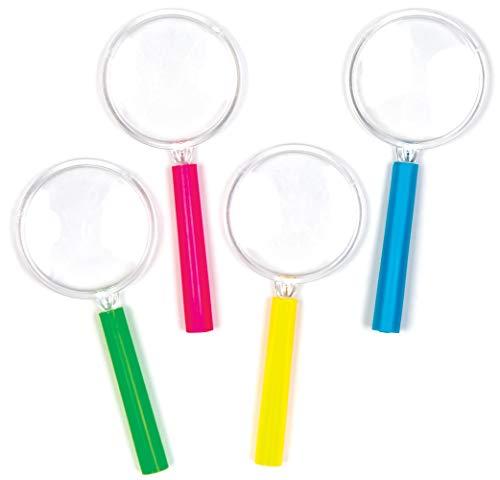 Baker Ross AV174 Mini Lupen (6 Stück) Lustiges Spielzeug für Kinder zur Frühlingszeit, perfekte Beute, Preise, Partytüte-oder Korbfüller, Sortiert