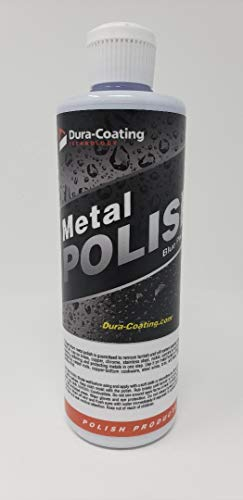 Dura-Coating Blue Premium Metal Polish, 16 oz. – Metal Polish for Aluminum Wheels, Diamond Plate, Stainless Steel, Copper, Brass and Nickel…