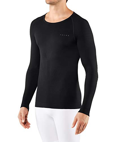 FALKE Herren Warm Tight Fit M L/S SH Baselayer-Shirt, Schwarz (Black 3000), XL